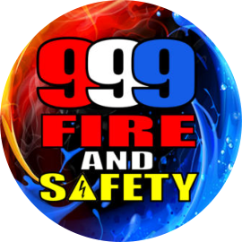 999 Fire and safety Logo Round