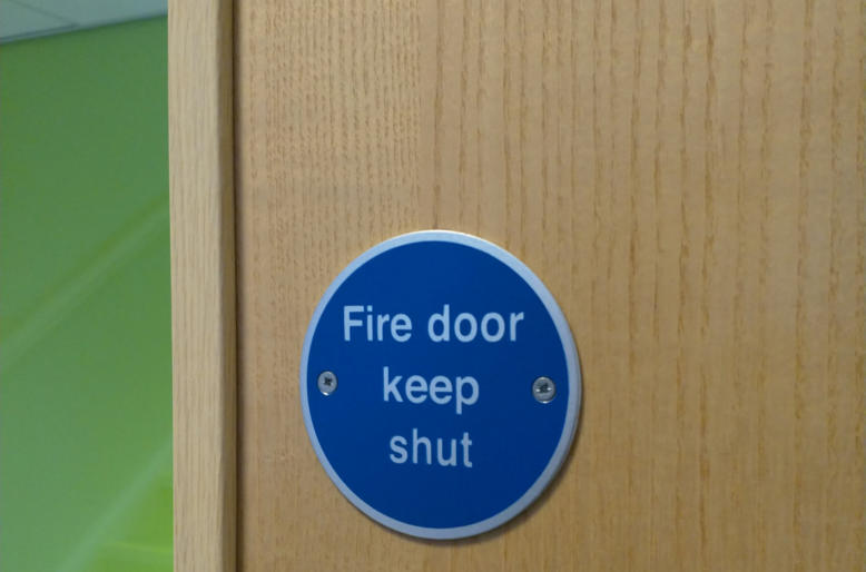 Fire Door and Sign